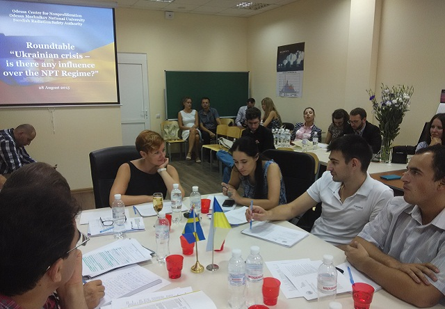 Round-table in Odessa Center for Nonproliferation